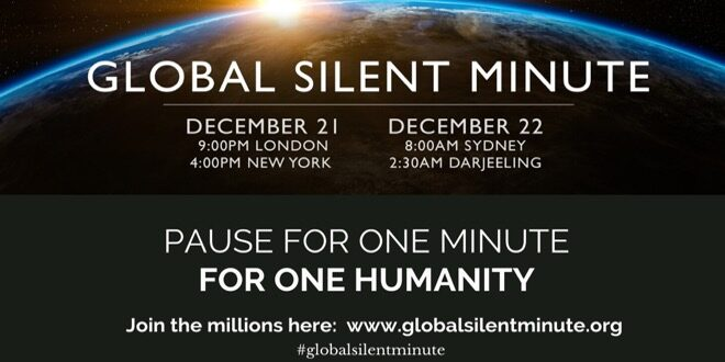 global silent minute banner