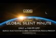 "Global Silent Minute supports ""Codes for a Healthy Earth"""