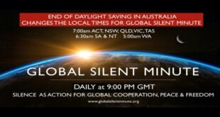 global silent minute times