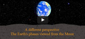 Viewing the earth from the moon