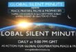 Global Silent Minute opens an event