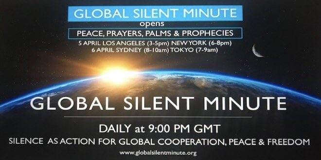 global silent minute opens event