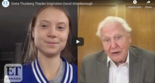 Greta Thunberg Thanks Inspiration David Attenborough