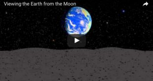 viewing earth from moon